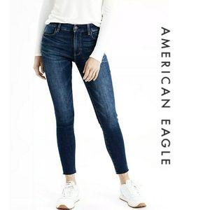 AEO High Rise Crop Jeggings Super Stretch Jeans 6